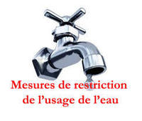ALERTE RESTRICTION D'EAU